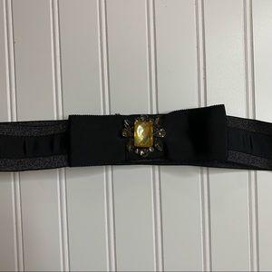 Loft Stretchy Gemstone Bow Belt